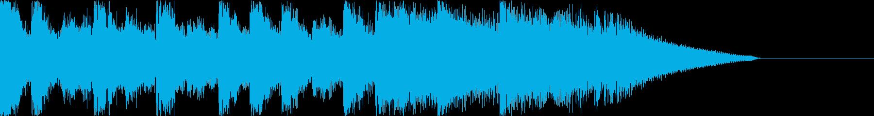少し緊迫感あるちょっぴりホラーなジングルの再生済みの波形