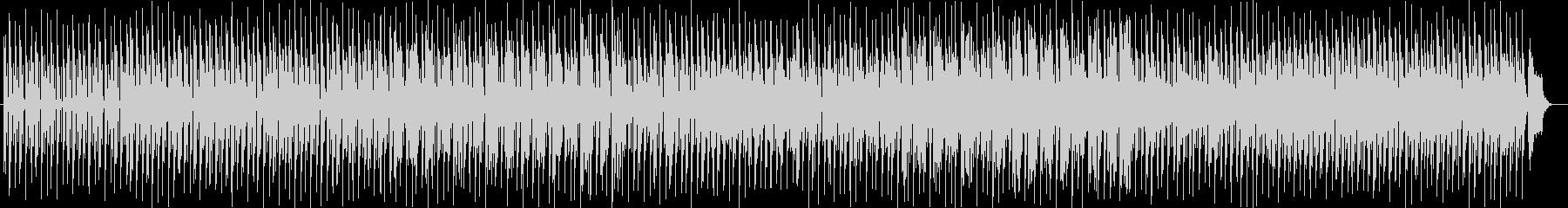 穏やかで楽しいシンセサイザーサウンドの未再生の波形