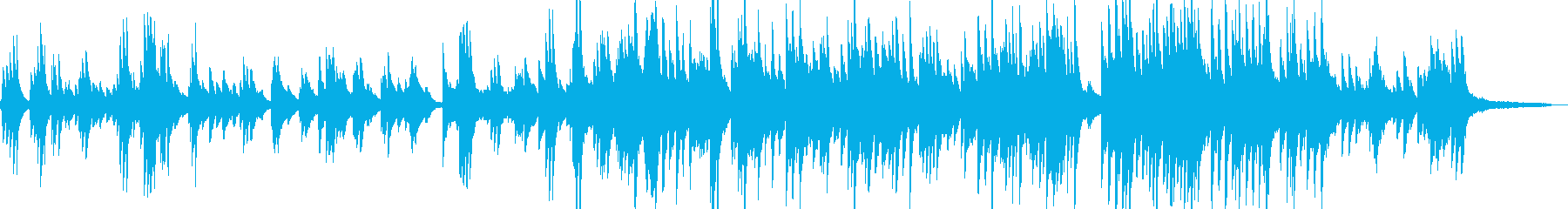 Wedding gorgeous and moving piano solo's reproduced waveform