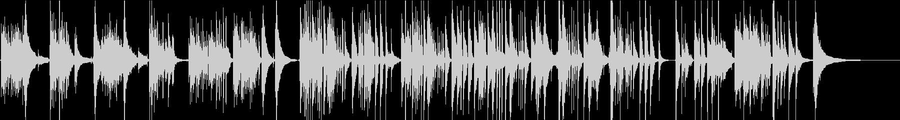 メランコリックでしっとりとしたソロギターの未再生の波形
