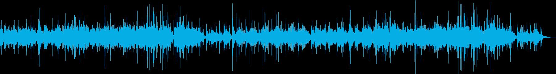 ピアノソロによるヒーリングミュージックの再生済みの波形