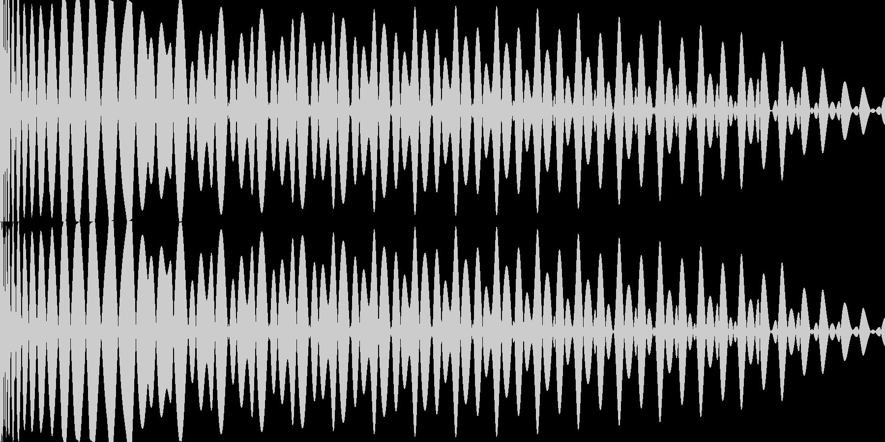 EDM キー(G)入りキックの未再生の波形