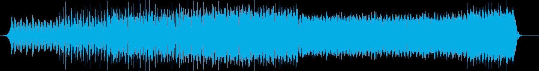 混沌としたビートサウンドの再生済みの波形