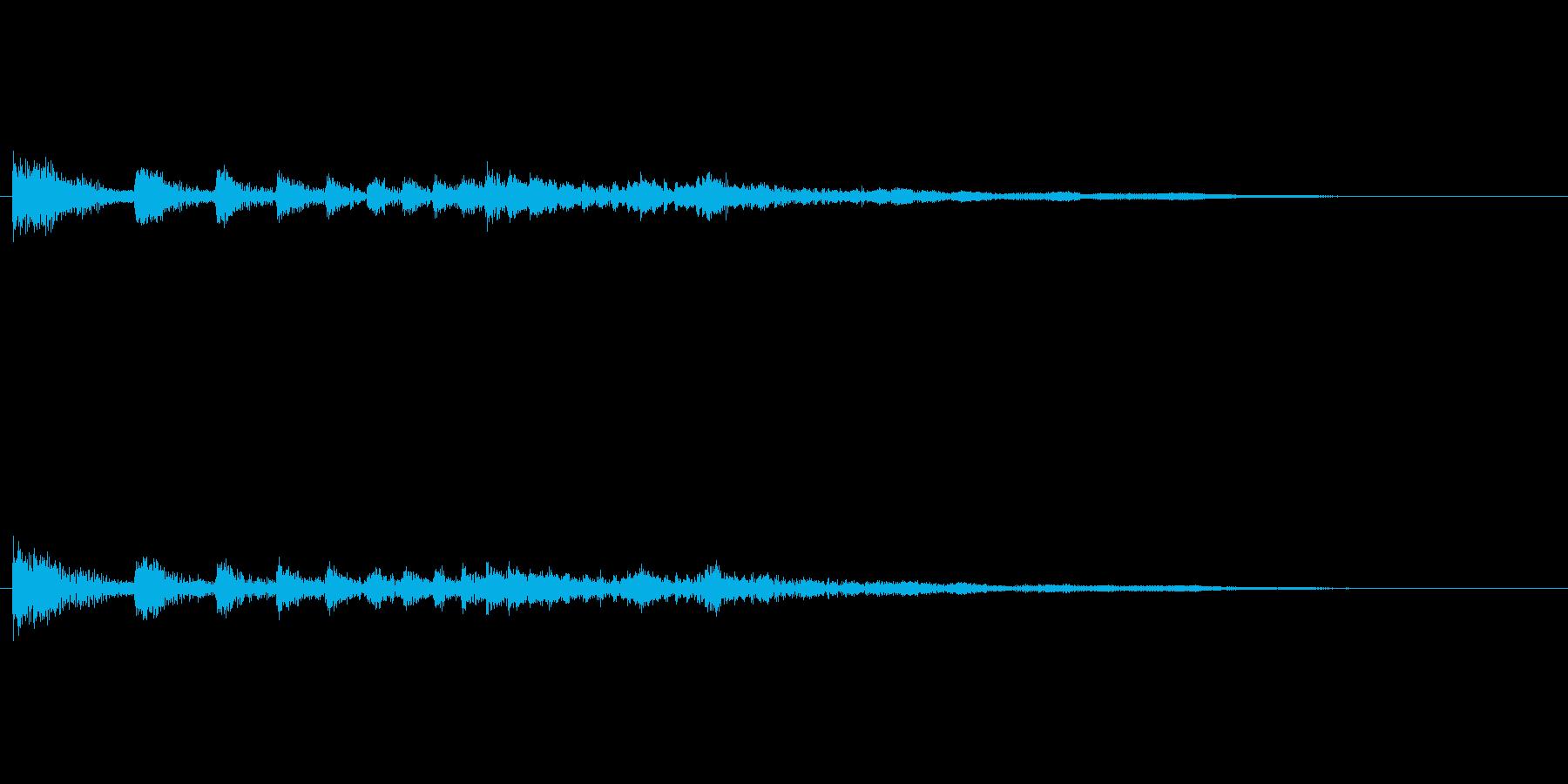 ゲーム時に何かが転がってくる音の再生済みの波形