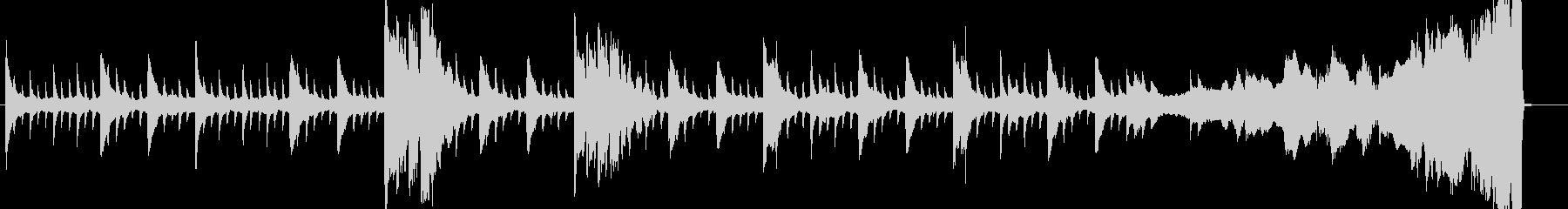 ゴシックホラーなピアノBGMの未再生の波形