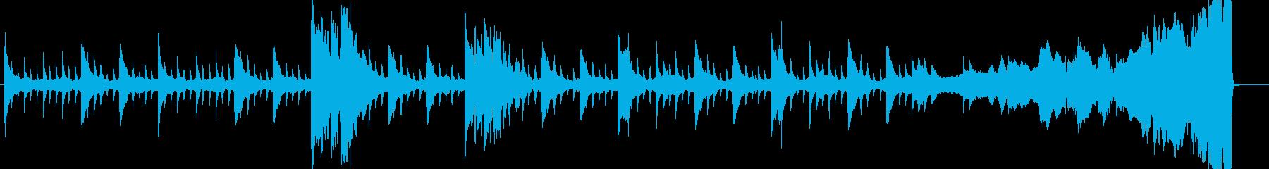 ゴシックホラーなピアノBGMの再生済みの波形