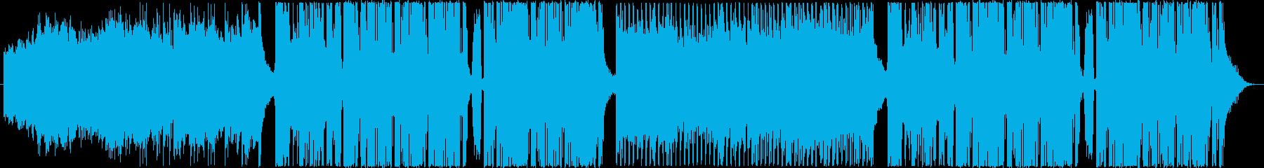 近未来的でシネマティックなBGMの再生済みの波形