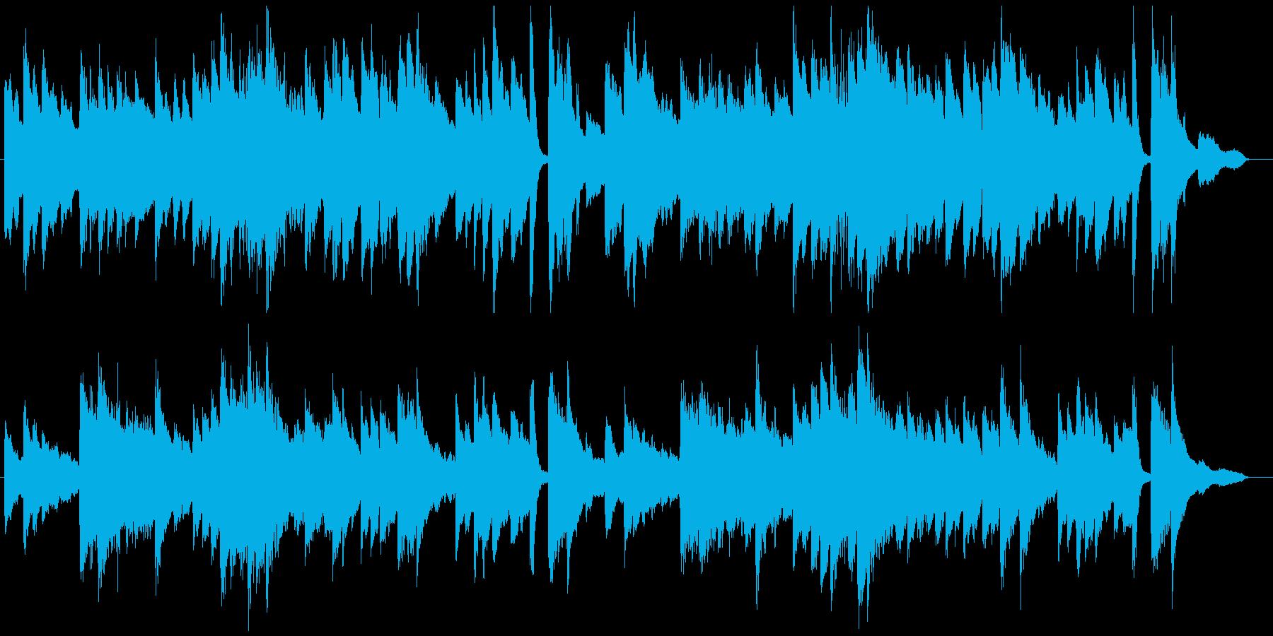 童謡「春よ来い」シンプルなピアノソロの再生済みの波形