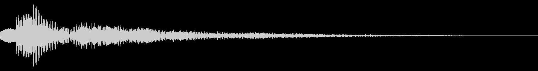 サウンドロゴ さわやか系 システムの未再生の波形