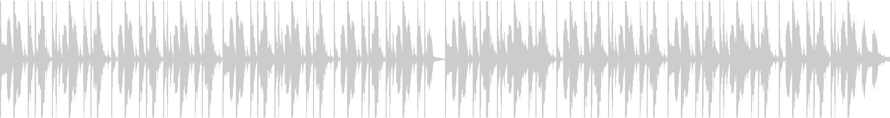 ダンサブルなファンクビート ver.2の未再生の波形
