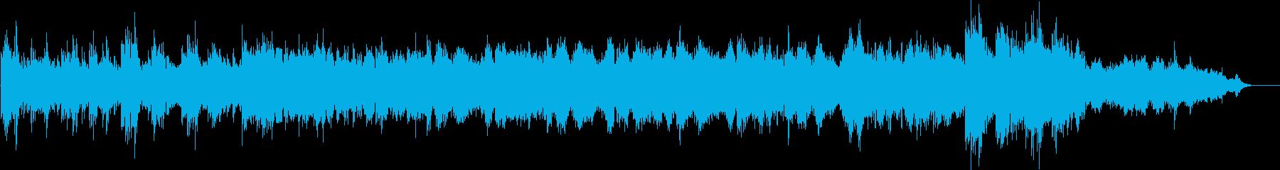 ピアノとシンセサイザーが奏でるラストの再生済みの波形