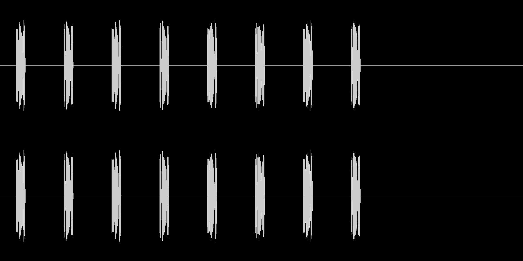 コミカルな足音 D-8-3の未再生の波形