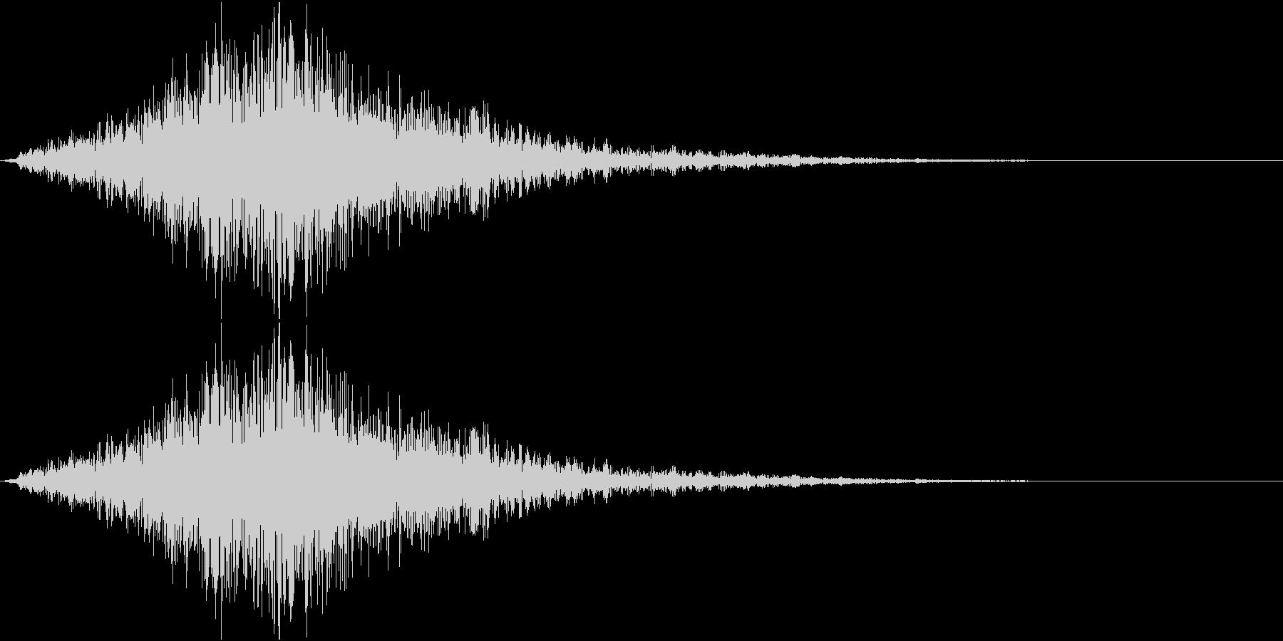 ウォォォォオォォ(ホラー、気配、通過)の未再生の波形