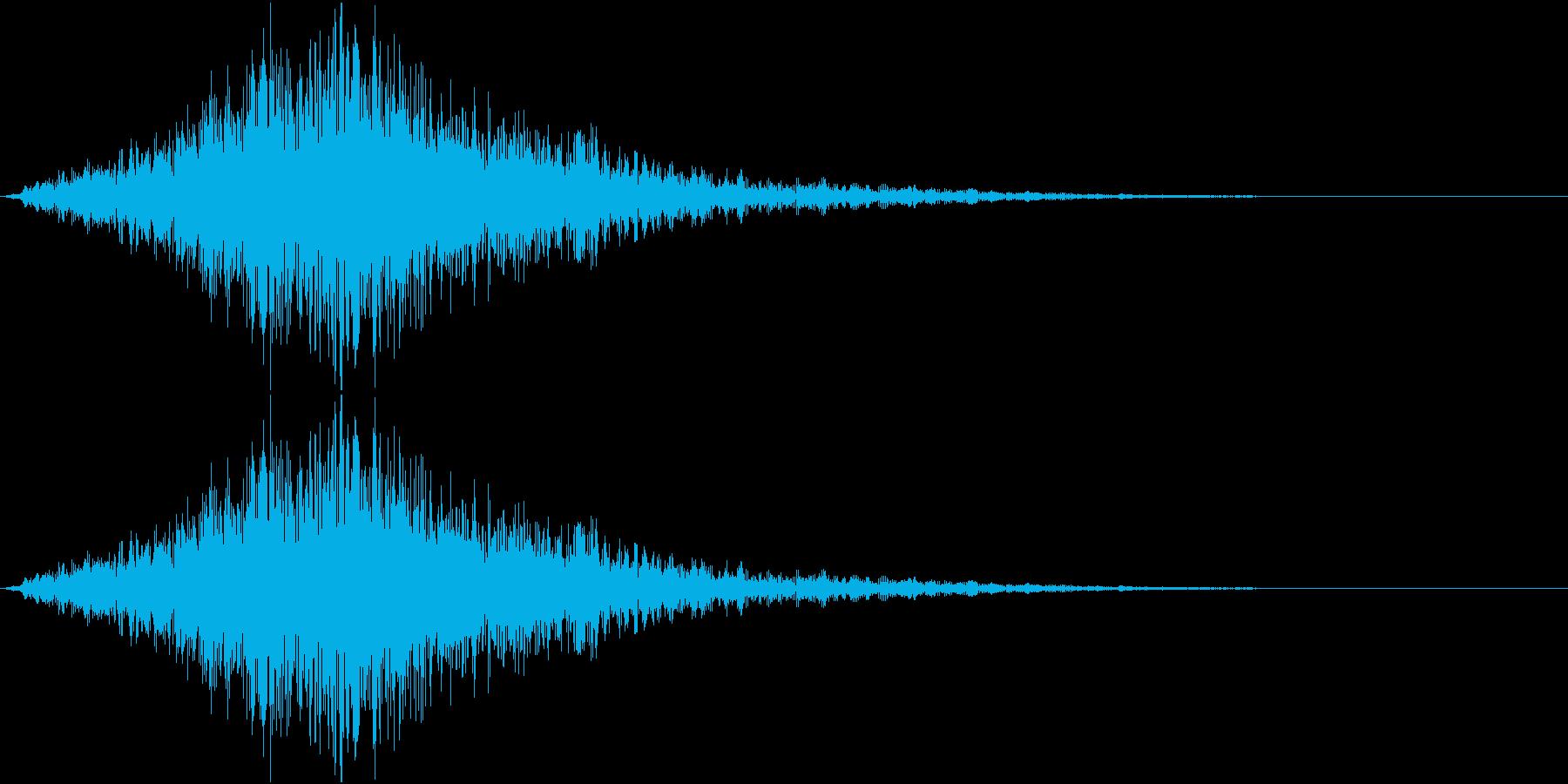 ウォォォォオォォ(ホラー、気配、通過)の再生済みの波形