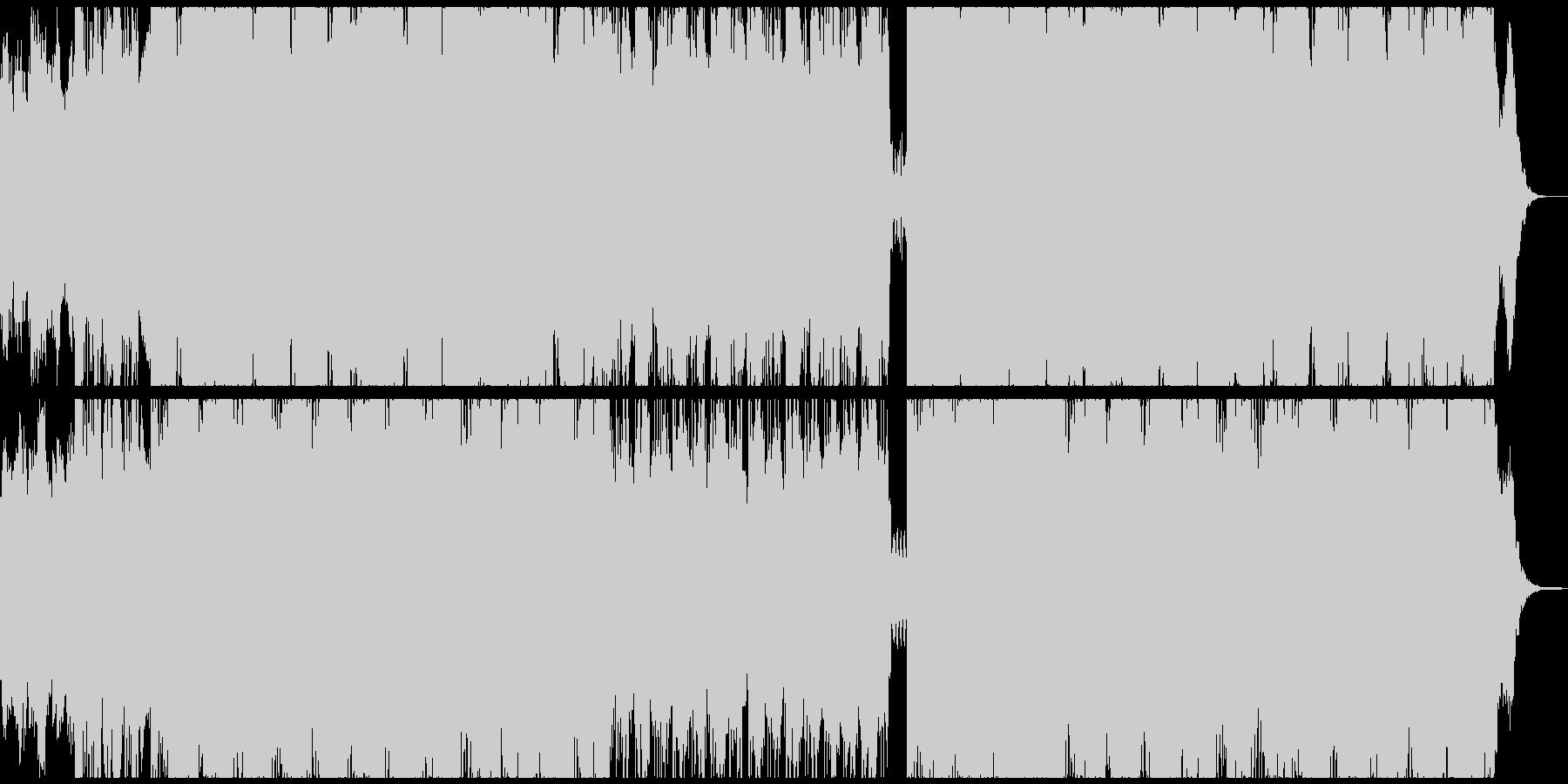 サイコホラーのOPみたいなホラー曲の未再生の波形