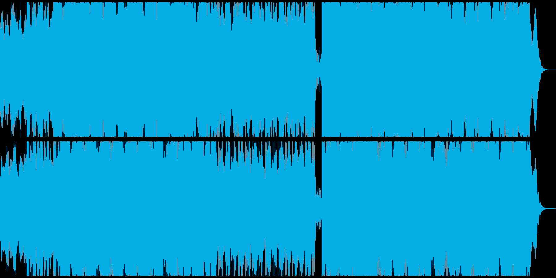 サイコホラーのOPみたいなホラー曲の再生済みの波形