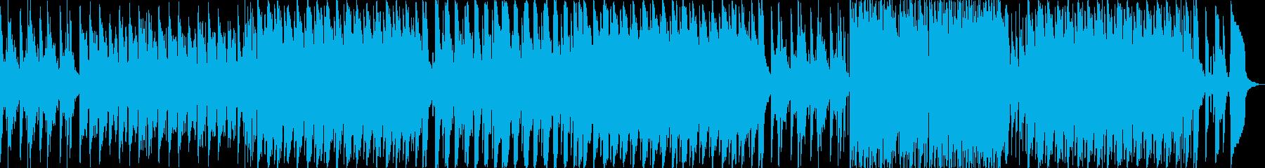 気分がうきうきするがリズムは抑えめの曲の再生済みの波形