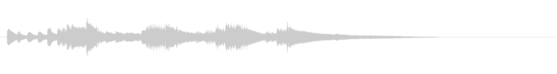テーマ1:ピアノの未再生の波形