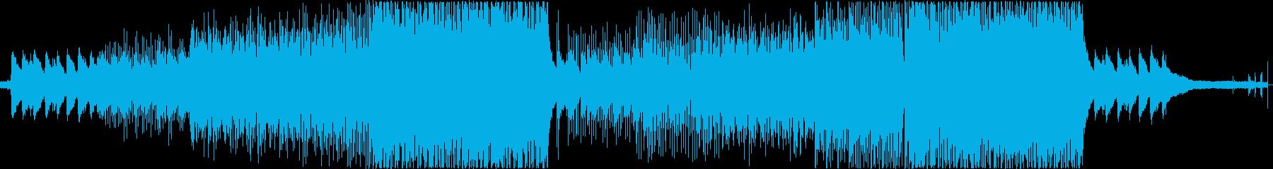夏chill Trap 蝉の声 花火の音の再生済みの波形