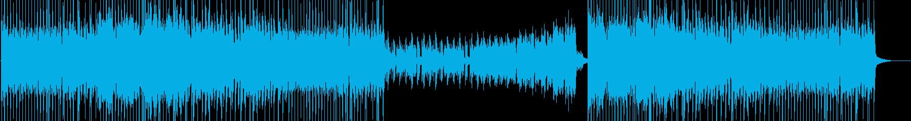 明るい雰囲気のEDMの曲の再生済みの波形