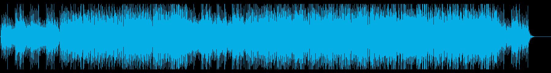 企業系映像に 温もりある優しい感動ロックの再生済みの波形