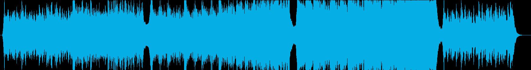 切ないピアノとオーケストラのエピックの再生済みの波形