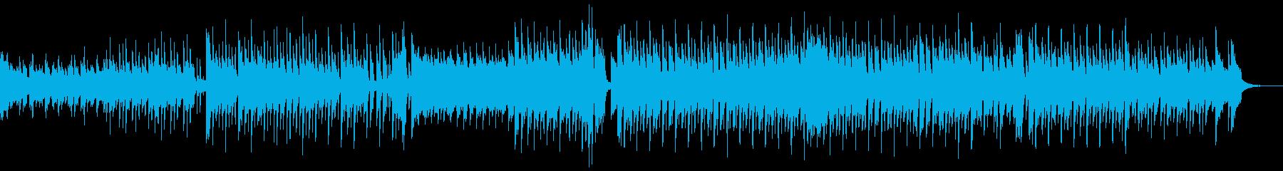シンセの軽快で心弾むポップミュージックの再生済みの波形