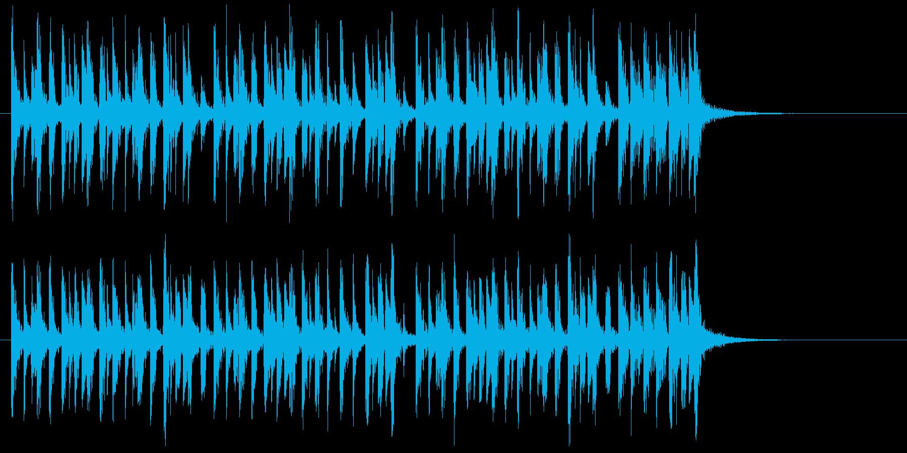 軽快で不思議なシンセジングルの再生済みの波形