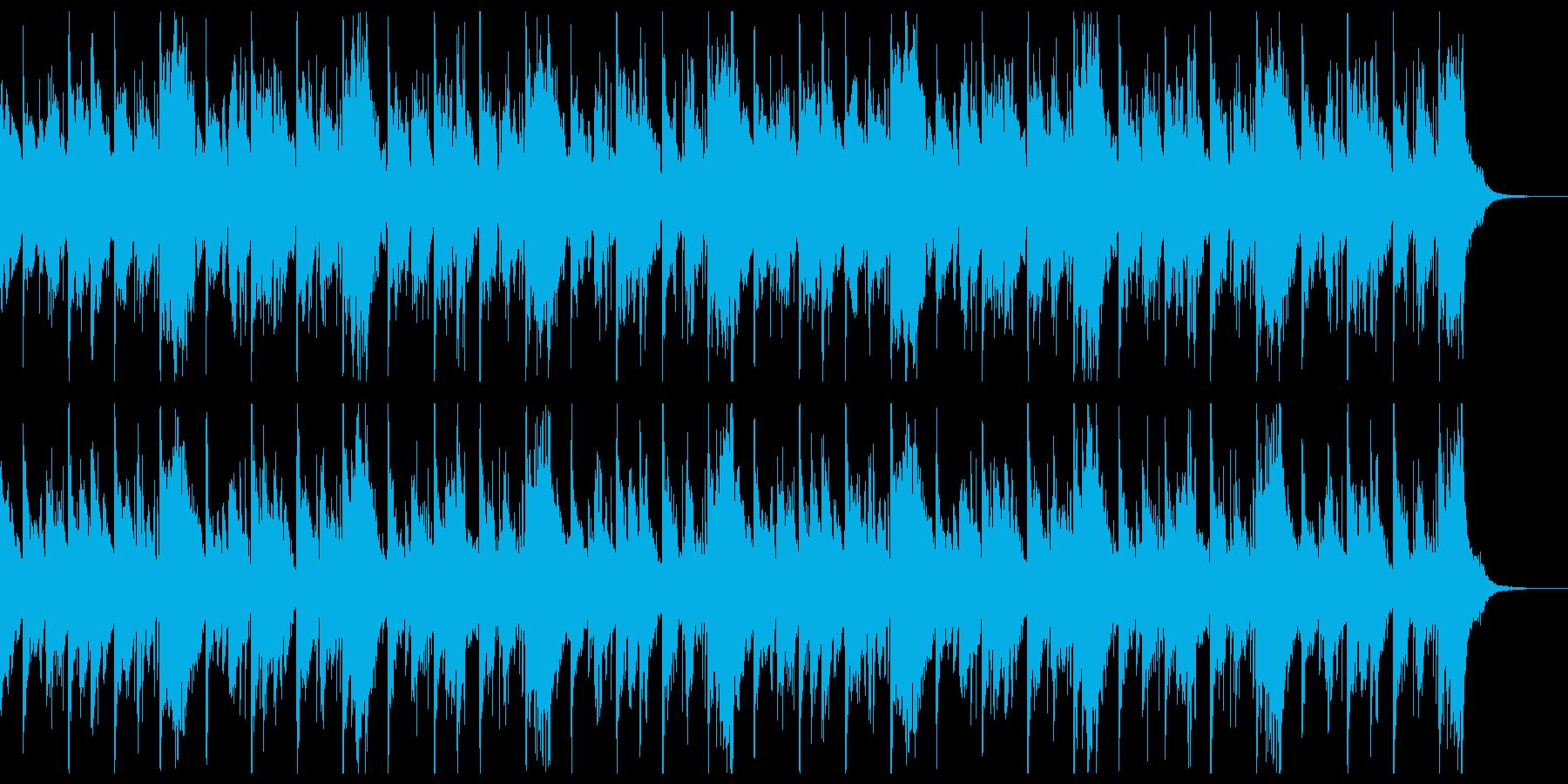 低音ピアノがズンズン迫りくるホラー風の再生済みの波形