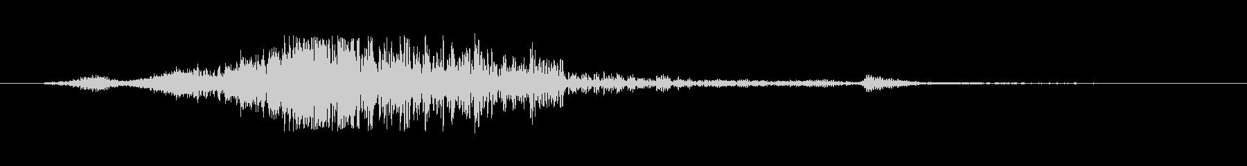 スペル ヒューシュ・ゴング02の未再生の波形