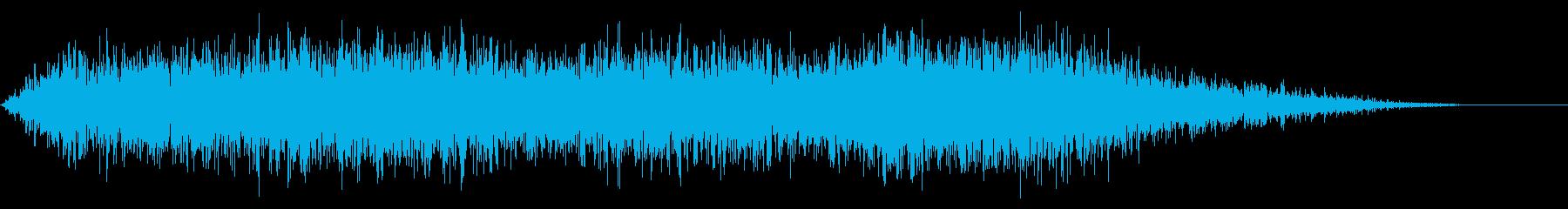 ハードノイズ遷移の再生済みの波形