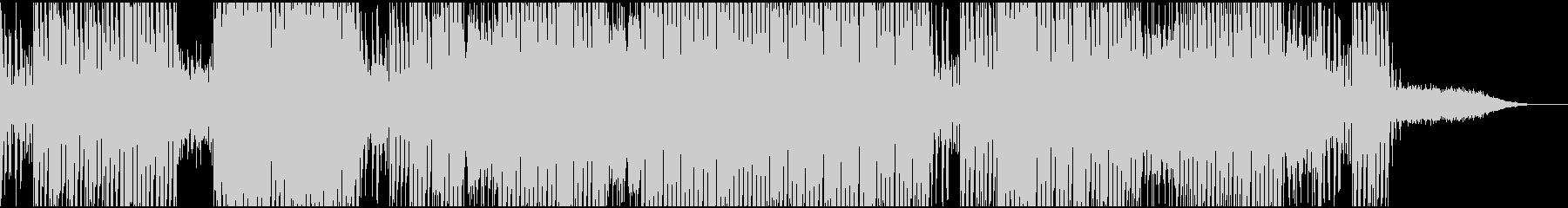 ホラー,サイコなテクノサウンドの未再生の波形