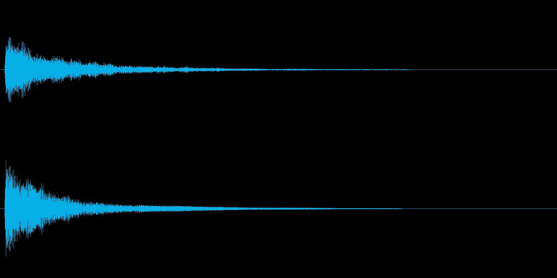 ピアノのワンショット効果音02の再生済みの波形