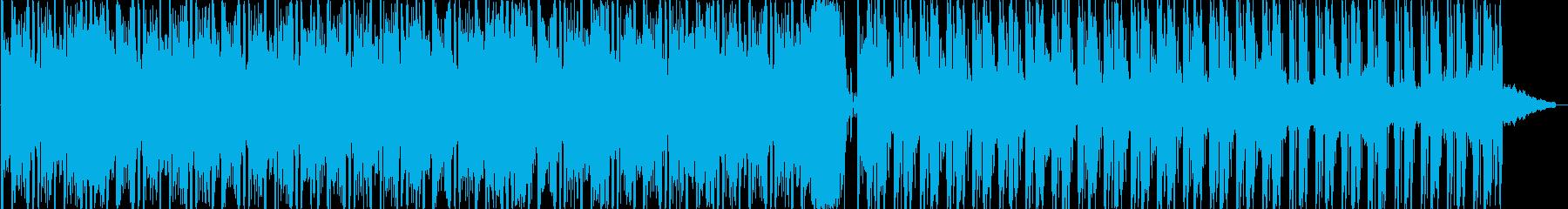 ワクワク感のあるテクノポップスの再生済みの波形