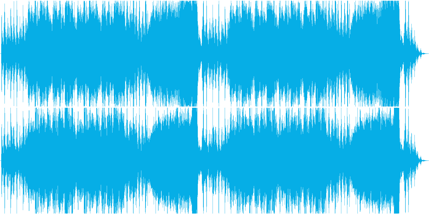 RPG向け炎のダンジョンステージBGMの再生済みの波形