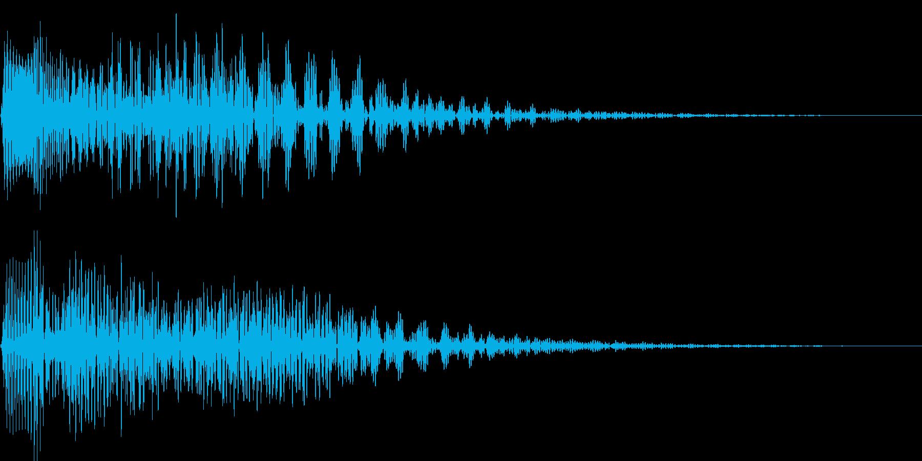 ボタン押下や決定音_ポロン!の再生済みの波形