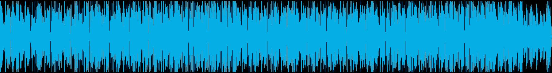 逃走シーンなど・高速テンポ約45秒ループの再生済みの波形