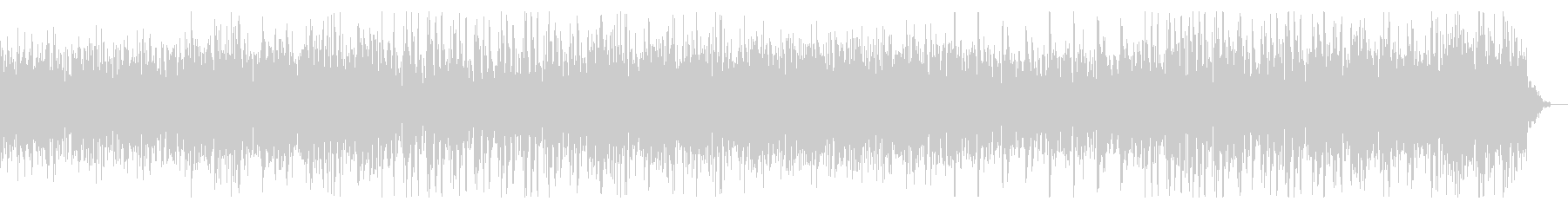 ノイジーでホラーテイストなBGMの未再生の波形