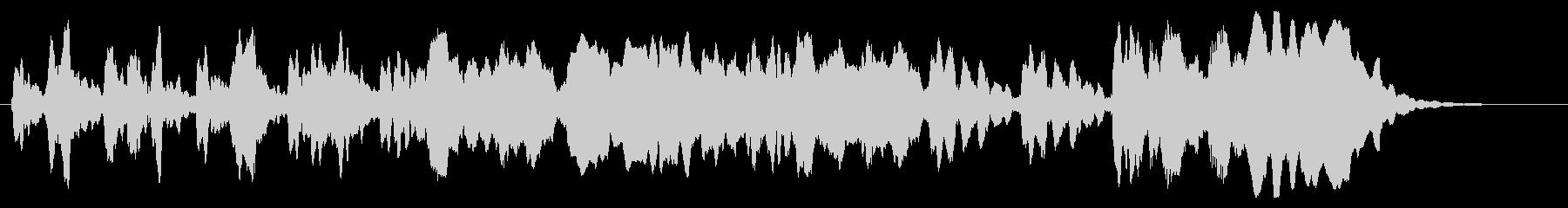 涼しげな尺八のショートジングルの未再生の波形