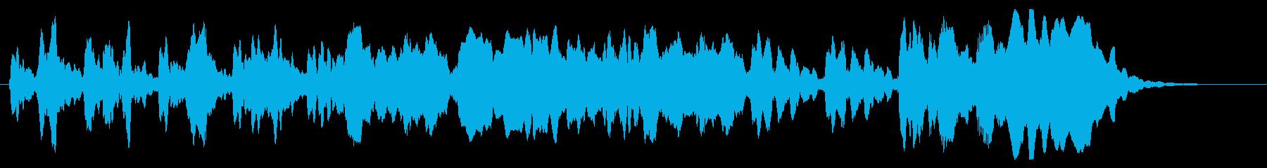 涼しげな尺八のショートジングルの再生済みの波形