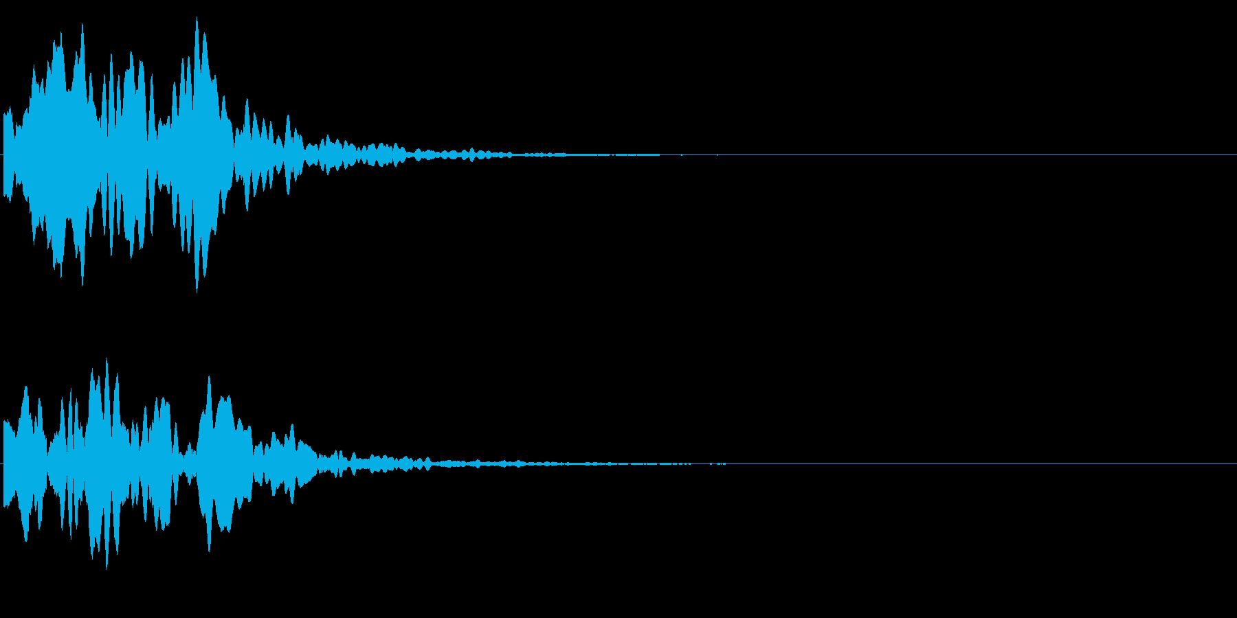 ゲームスタート、決定、ボタン音-129の再生済みの波形