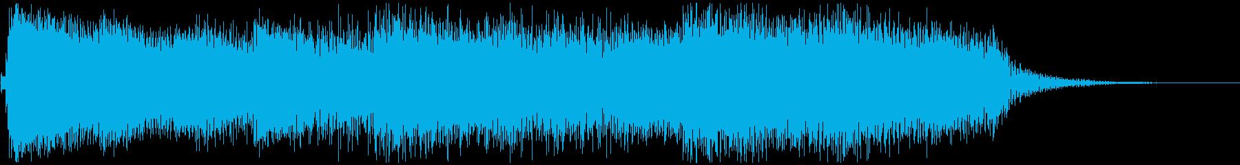 レトロでファンキーなシンセジングルの再生済みの波形