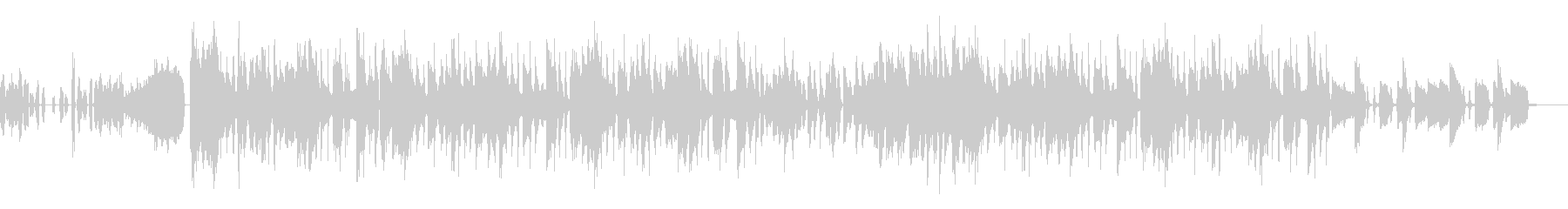 FUNK系ダンサンブルなポップスの未再生の波形
