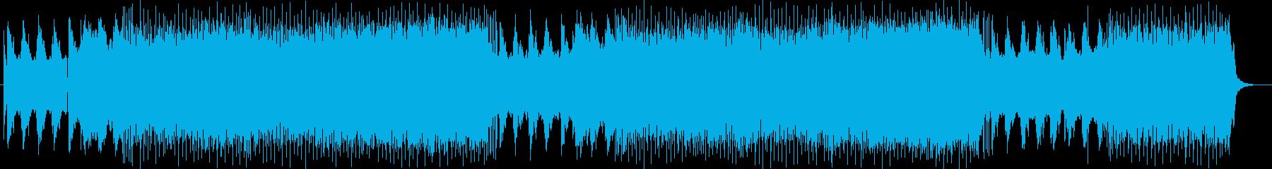 ワイルドでパンクなエレキサウンドの再生済みの波形