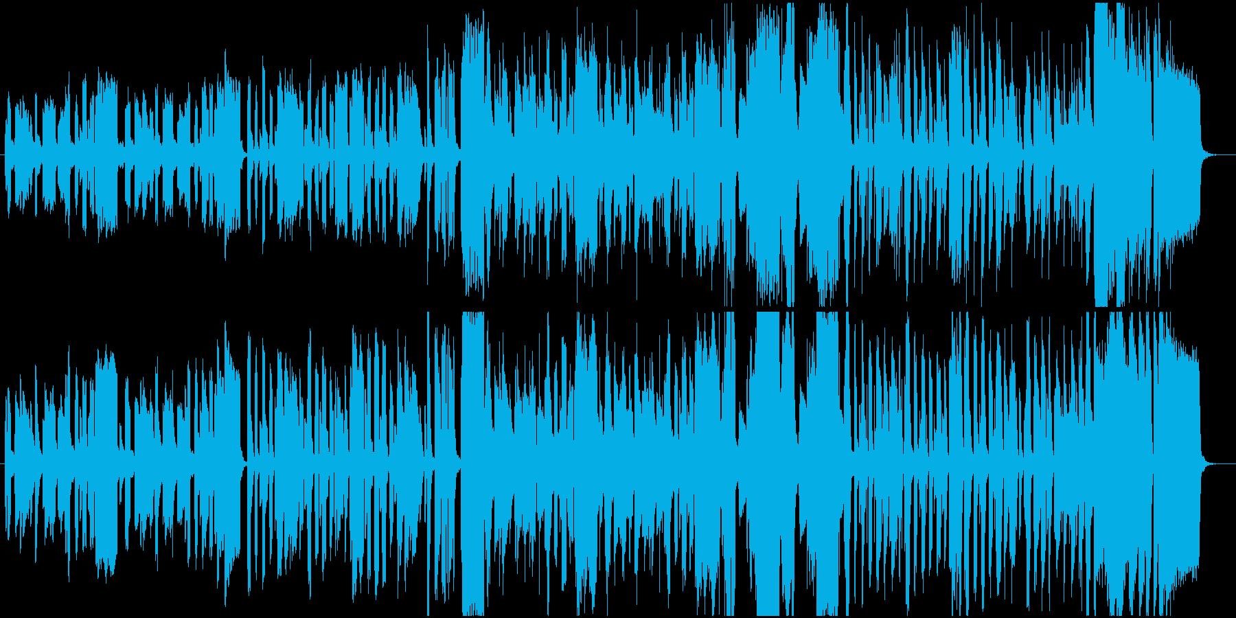 怪しい足取りのリコーダーの再生済みの波形