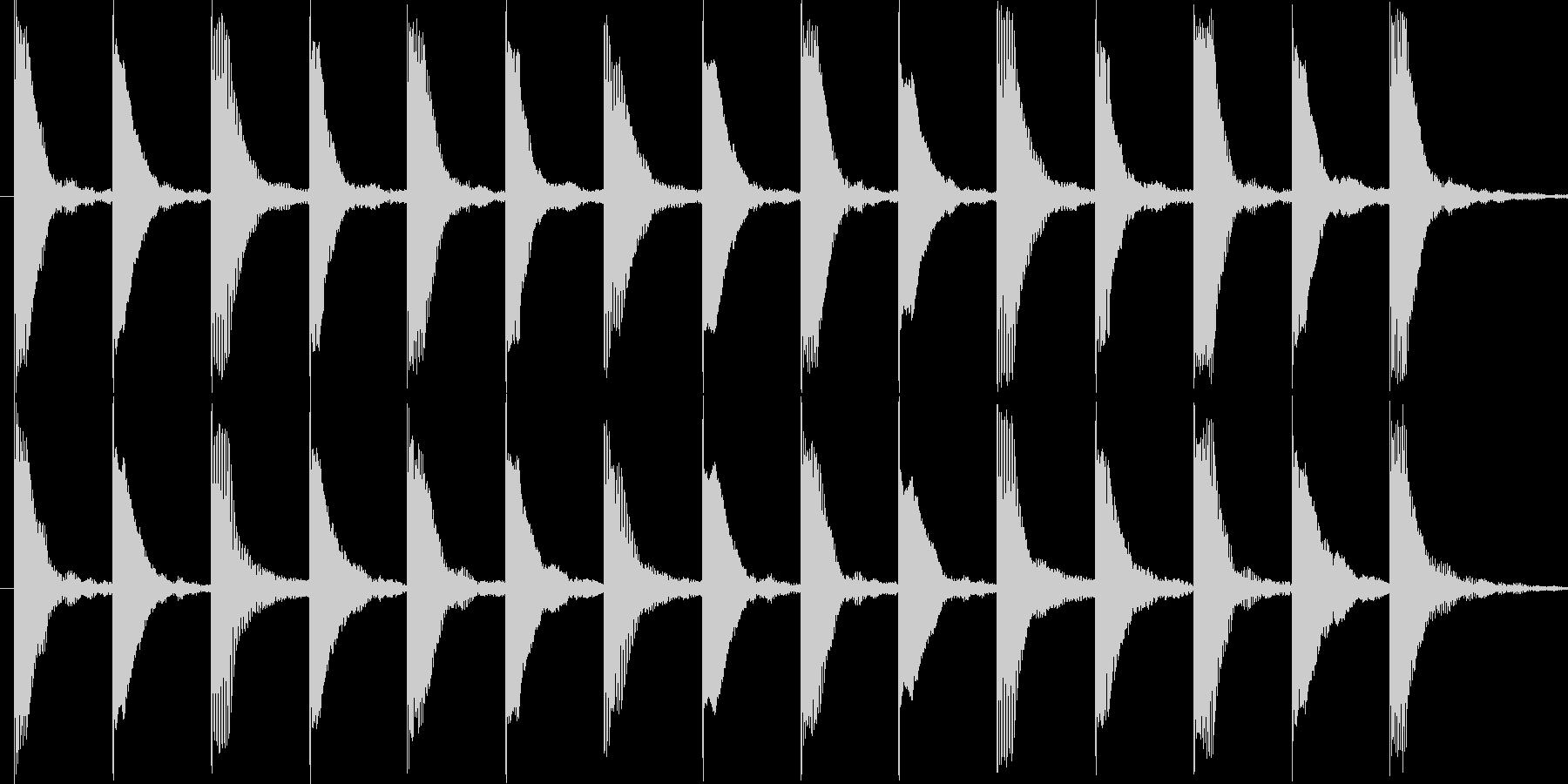 いたずらしているイメージです。の未再生の波形