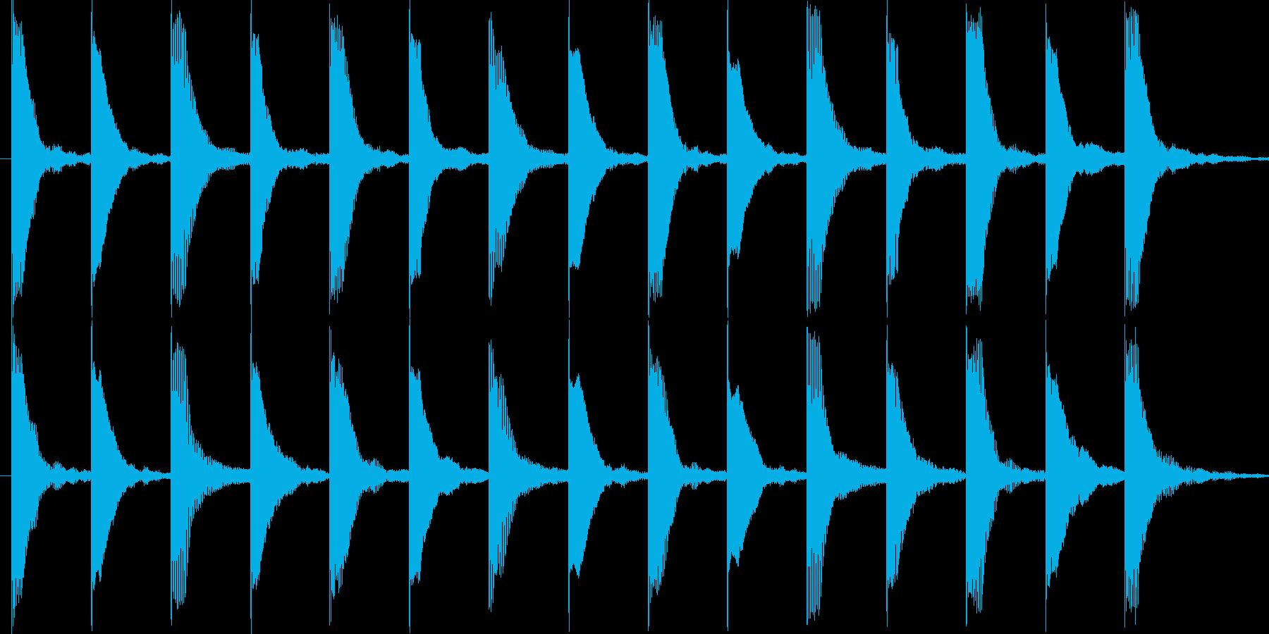 いたずらしているイメージです。の再生済みの波形