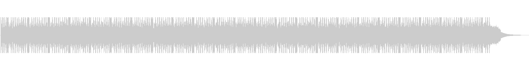 SFチックなインダストリアルなBGMの未再生の波形