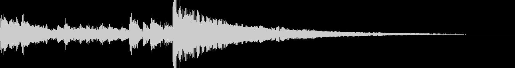 グロッケンシュピールの鐘、アコース...の未再生の波形