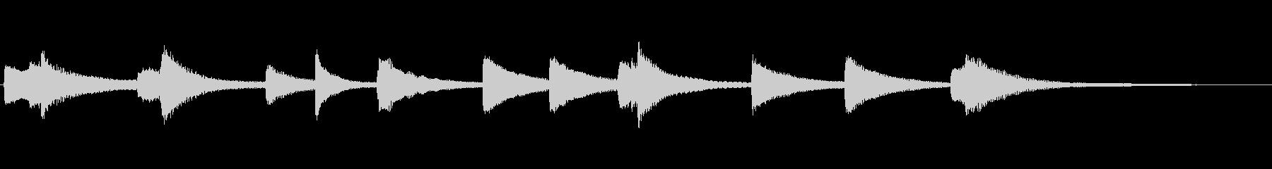 リスト愛の夢_ピアノジングル 1の未再生の波形